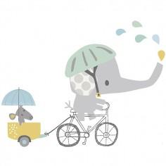 Sticker enfant XL En Vélo - Lilipinso
