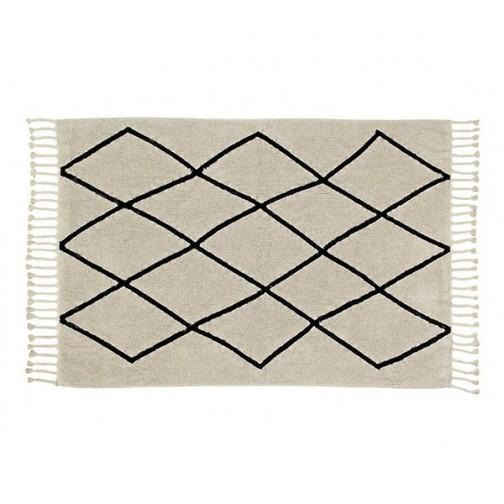 Tapis lavable beige losanges noir berbere lorena canals ma chambramoi - Tapis lorena canals soldes ...