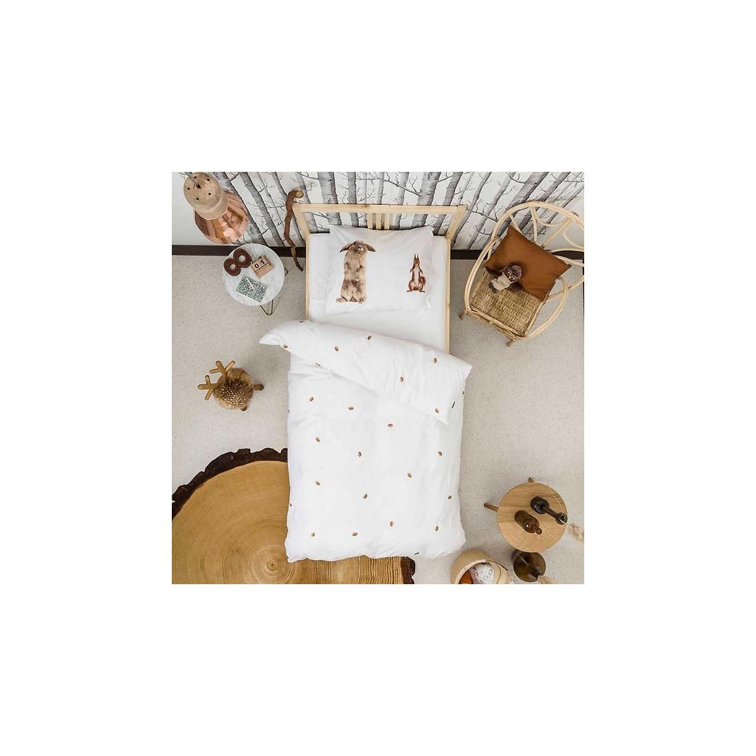 housse de couette enfant effet 3d ecureuil et lapin snurk ma chambramoi. Black Bedroom Furniture Sets. Home Design Ideas