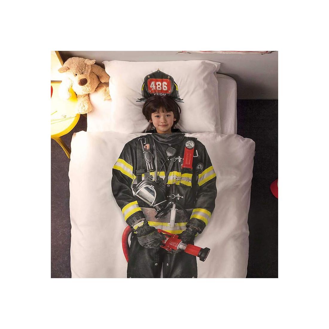 Housse de couette enfant pompier effet 3d ma chambramoi for Housse de couette pompier