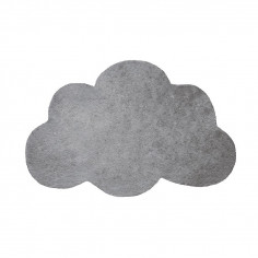 Tapis enfant coton Nuage gris métal - Lilipinso