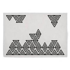 Tapis enfant coton rectangle Bohème gris et noir - Lilipinso