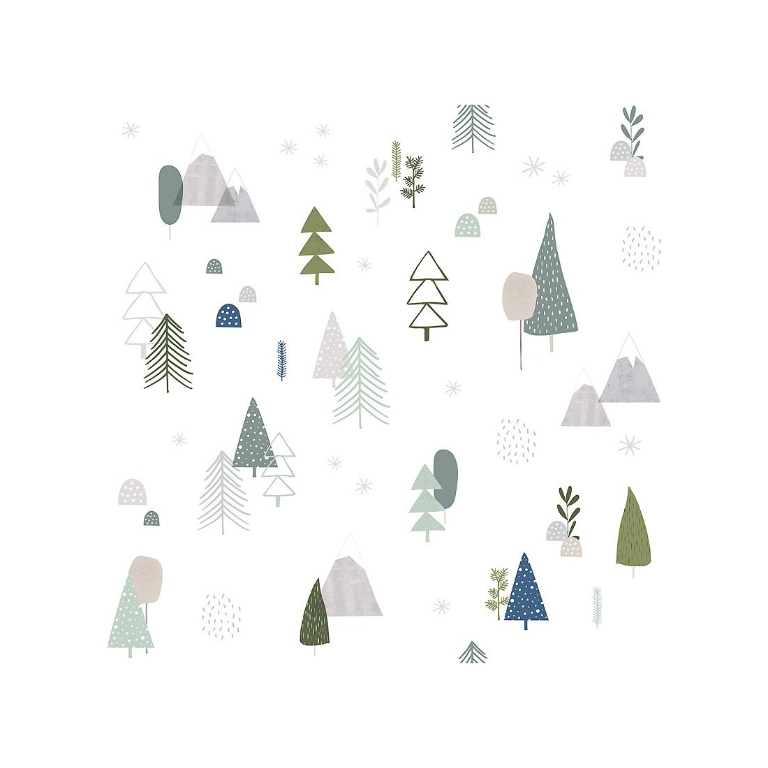 papier peint enfant arbres de for t lilipinso ma chambramoi. Black Bedroom Furniture Sets. Home Design Ideas