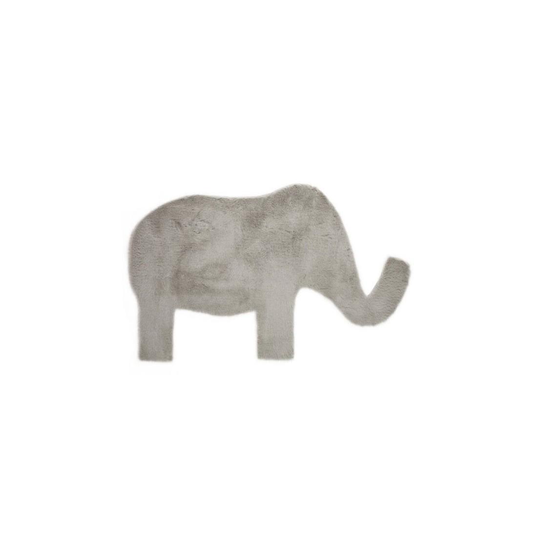 Tapis enfant Eléphant gris clair  Pilepoil  Ma Chambramoi