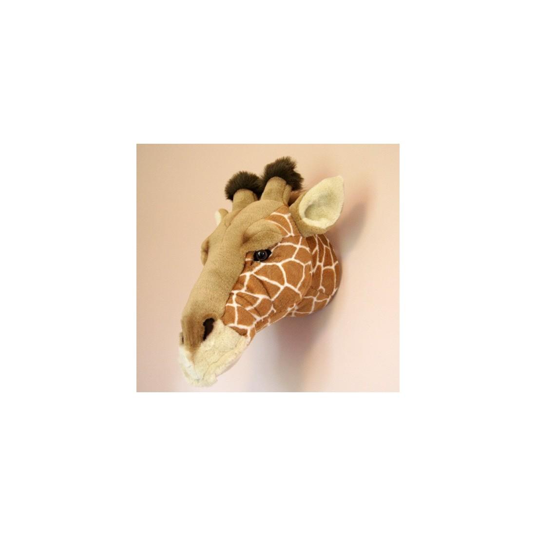 D co murale enfant peluche t te de girafe bibib ma chambramoi - Deco murale enfant ...