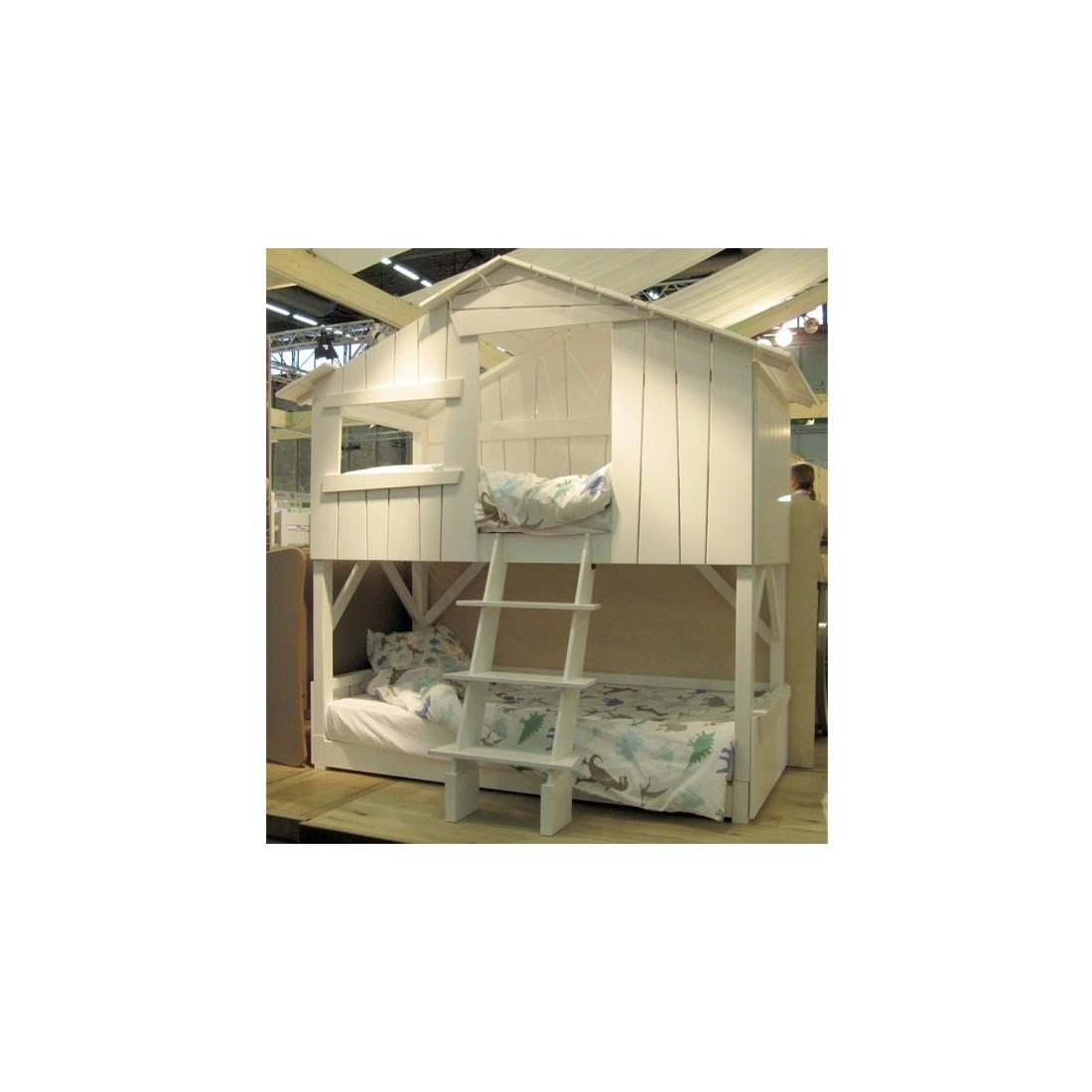 lit cabane enfant superpos coloris au choix mathy by bols ma chambramoi. Black Bedroom Furniture Sets. Home Design Ideas