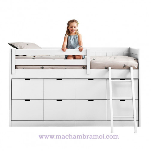 lit sur lev enfant 8 box de rangement bahia asoral ma chambramoi. Black Bedroom Furniture Sets. Home Design Ideas