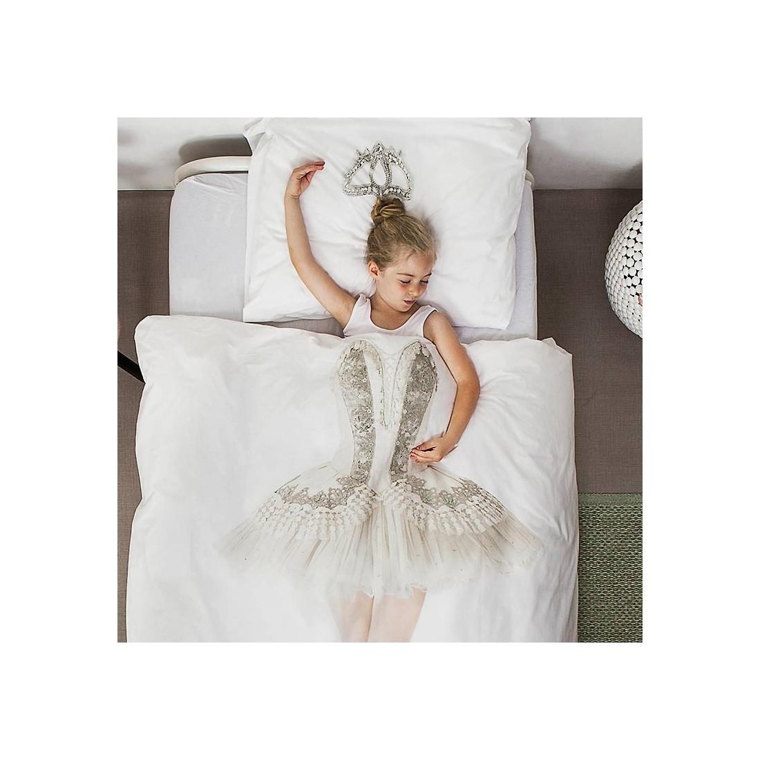 Housse de couette enfant 3d ballerine snurk avec taie ma - Housse de couette danseuse ...