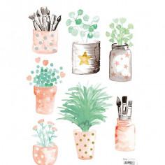 Sticker enfant Petits pots de fleurs Lilipinso