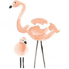 Sticker enfant XL Flamants roses Lilipinso