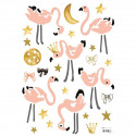 Sticker chambre enfant Flamants roses - Lilipinso