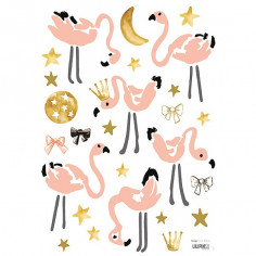 Sticker enfant Flamants roses Lilipinso