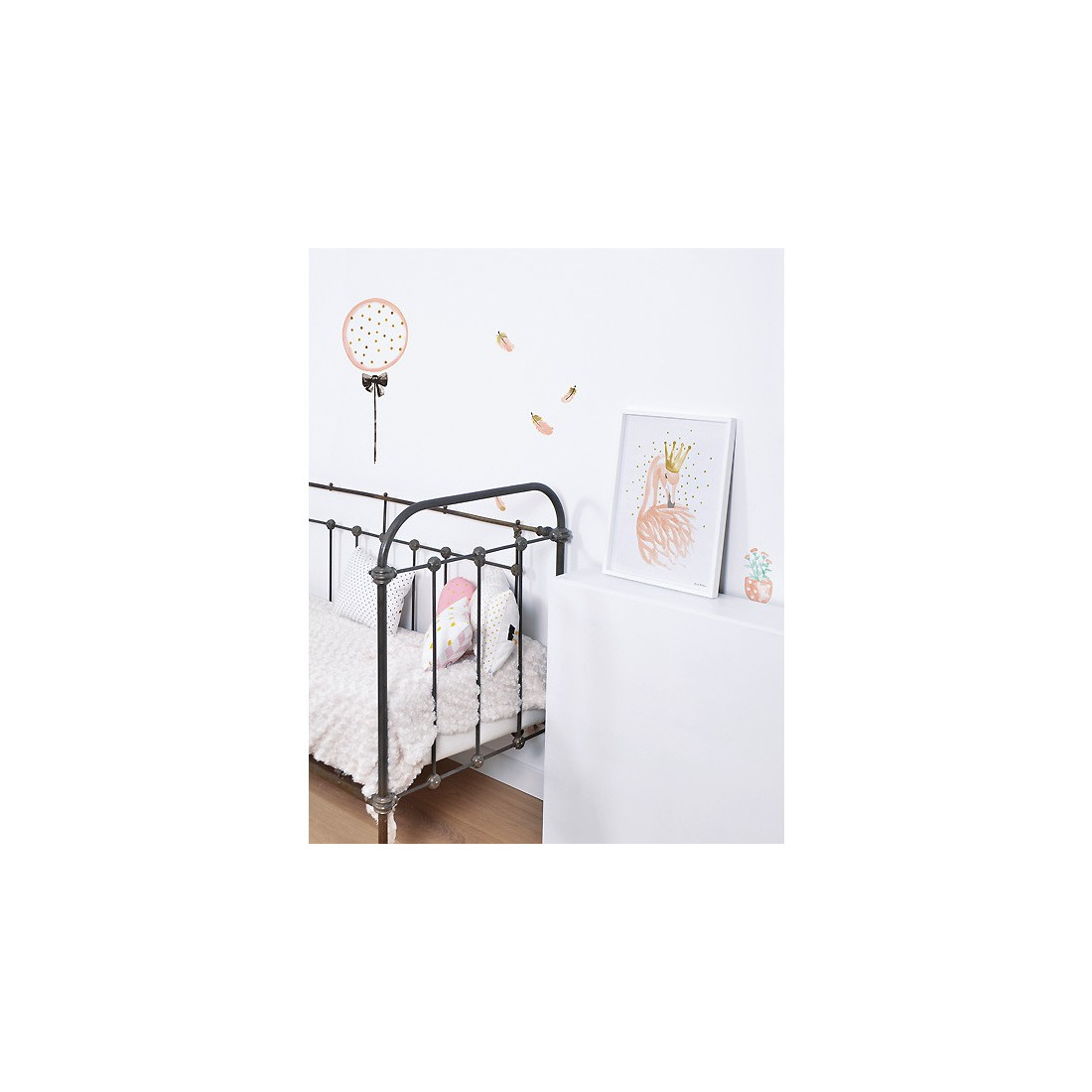 Sticker enfant plumes roses lilipinso ma chambramoi for Stickers chambre enfant
