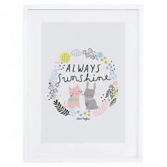 Tableau enfant Affiche encadrée Happy clouds