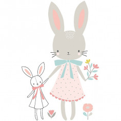 Sticker enfant XL Demoiselle Lapin