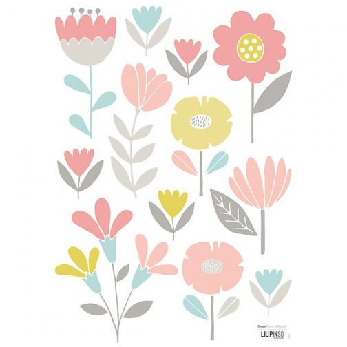 Sticker enfant Fleurs pastel