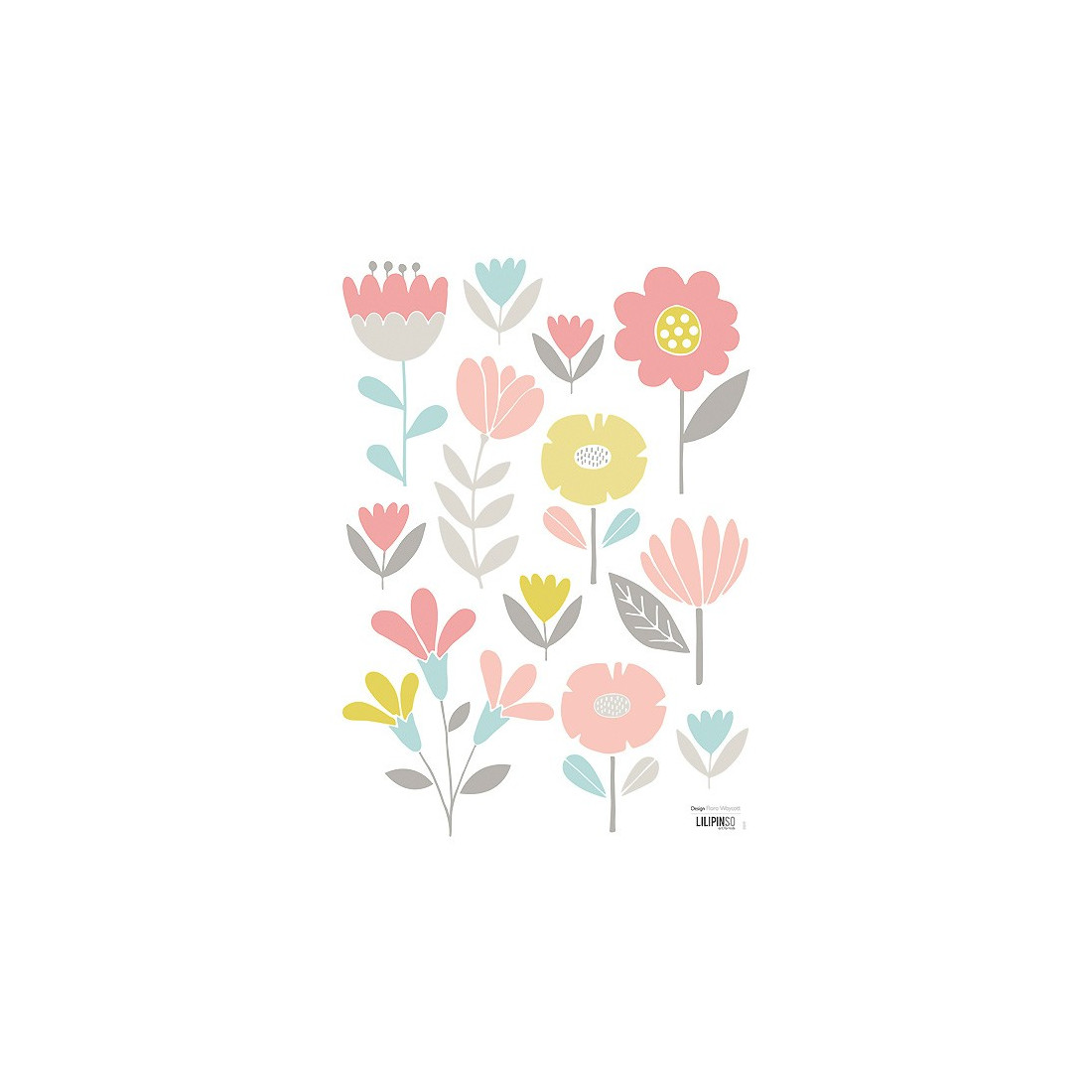 Sticker Enfant Fleurs Pastel Ma Chambramoi