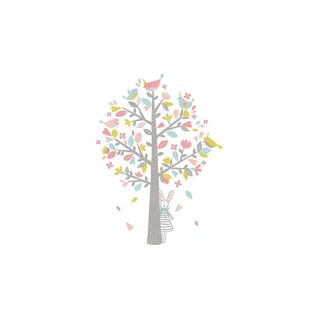 sticker enfant xl l 39 arbre aux moineaux roses ma chambramoi. Black Bedroom Furniture Sets. Home Design Ideas