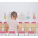 Sticker pour enfant Lapins Fille