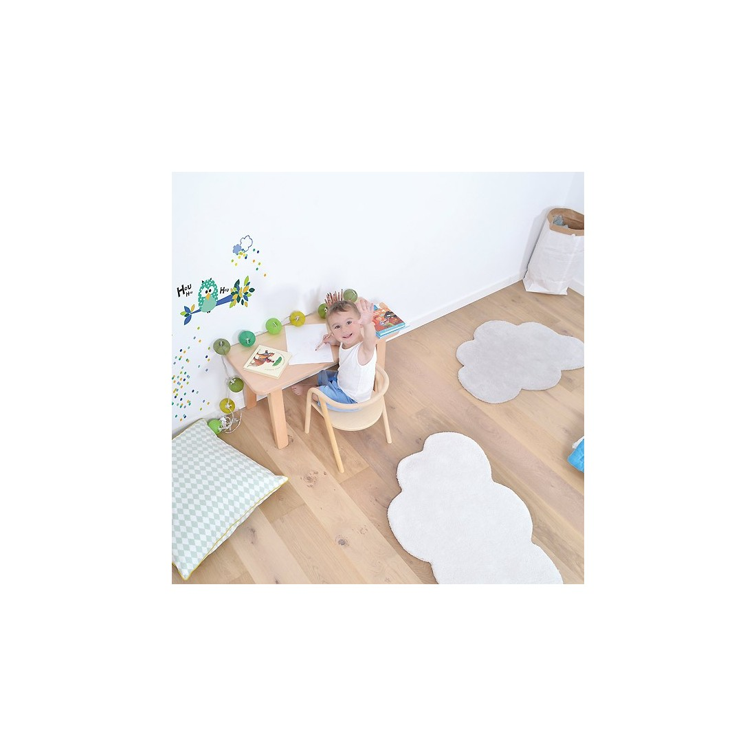 tapis enfant nuage blanc lilipinso ma chambramoi. Black Bedroom Furniture Sets. Home Design Ideas