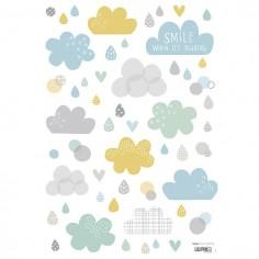 Stickers enfant Nuages et pluie - Lilipinso