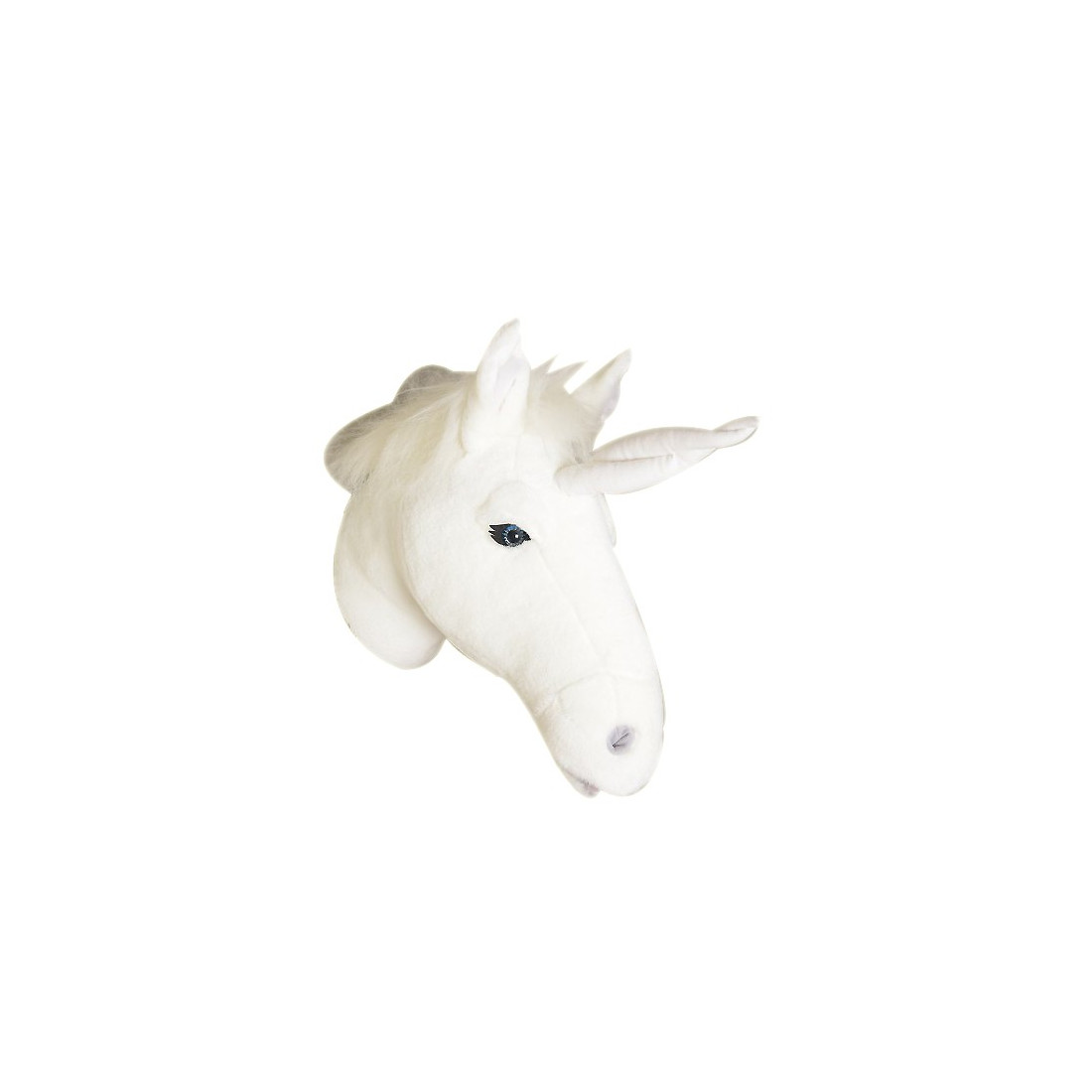 D co murale enfant peluche t te licorne blanche bibib ma for Decoration murale tete animaux