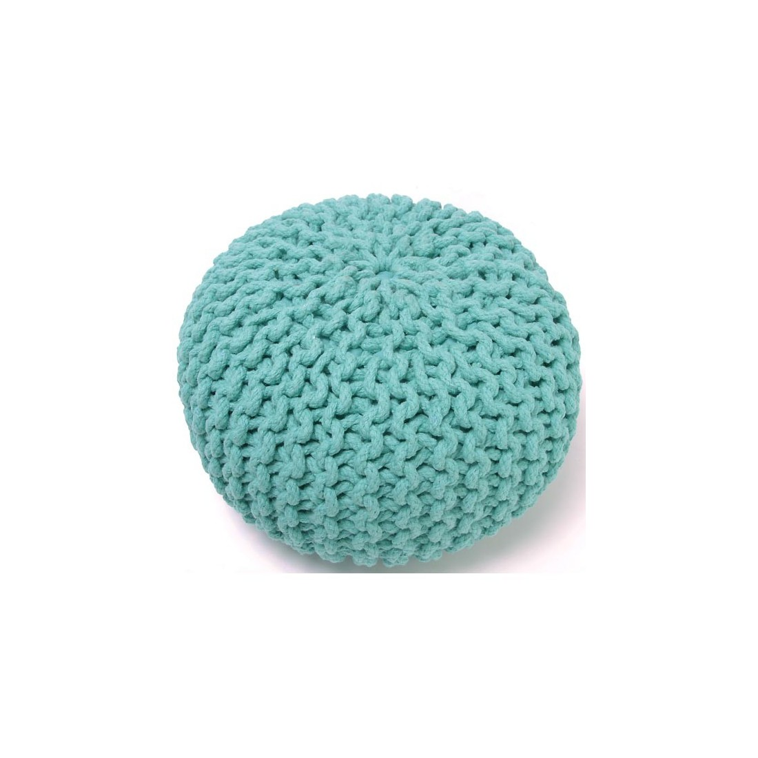pouf enfant coton effet maille tricot lili bleu nattiot ma chambramoi. Black Bedroom Furniture Sets. Home Design Ideas