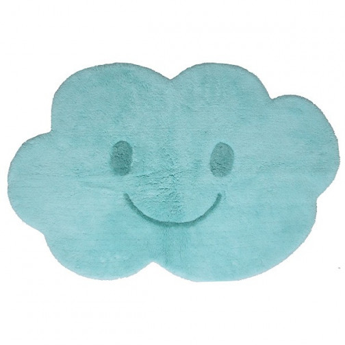 Tapis enfant lavable Nuage bleu Nimbus  drôle et doux- Nattiot