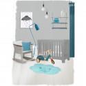 Ambiance chambre garçon Tapis enfant lavable Nuage bleu Nimbus - Nattiot