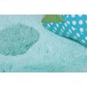 Tapis enfant lavable  forme Nuage bleu Nimbus doux  - Nattiot
