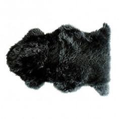 Tapis enfant Peau de mouton Douchka noir  - Nattiot