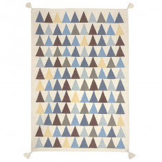 Tapis enfant laine Triangles bleu - Art for Kids
