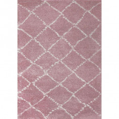 Tapis enfant Losanges Nomad rose blanc - Art for Kids