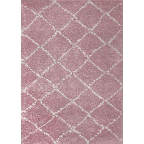 tapis enfant losanges nomad rose blanc art for kids ma chambramoi. Black Bedroom Furniture Sets. Home Design Ideas