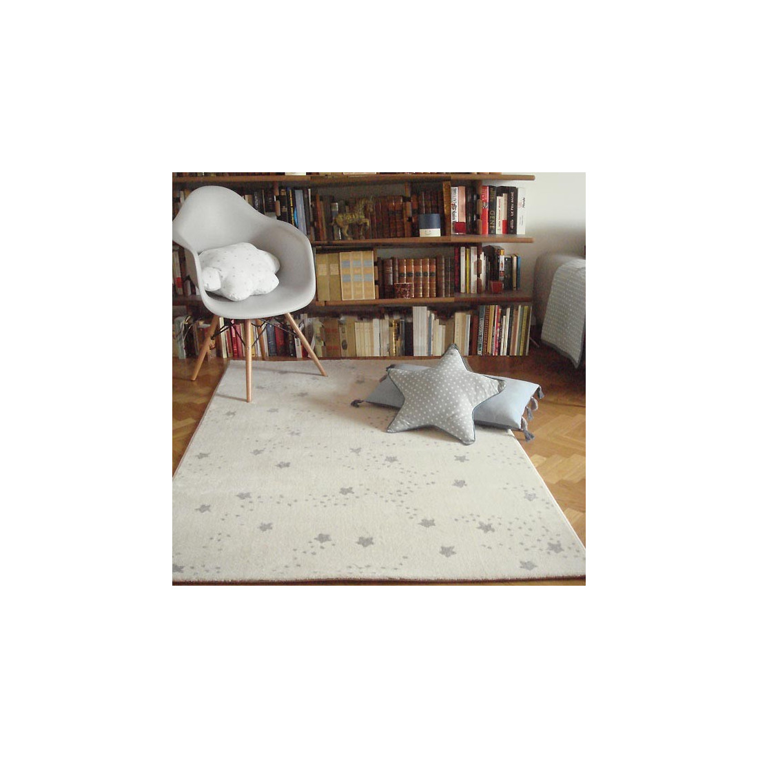 tapis enfant constellation etoiles gris art for kids ma chambramoi. Black Bedroom Furniture Sets. Home Design Ideas