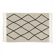 Tapis lavable beige losanges noir Berbere - Lorena Canals