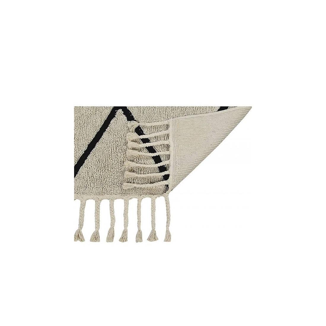 tapis lavable beige losanges noir berbere lorena canals ma chambramoi. Black Bedroom Furniture Sets. Home Design Ideas
