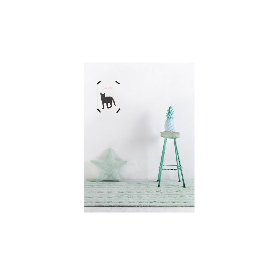 tapis lavable torsades vert menthe lorena canals ma chambramoi. Black Bedroom Furniture Sets. Home Design Ideas