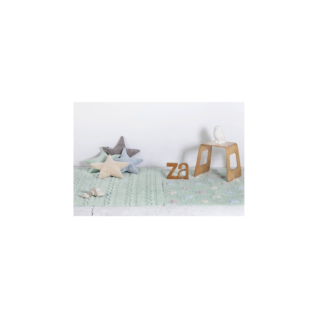 tapis lavable torsades vert menthe lorena canals ma. Black Bedroom Furniture Sets. Home Design Ideas