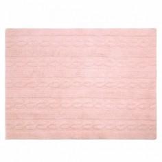 Tapis lavable Torsades rose - Lorena