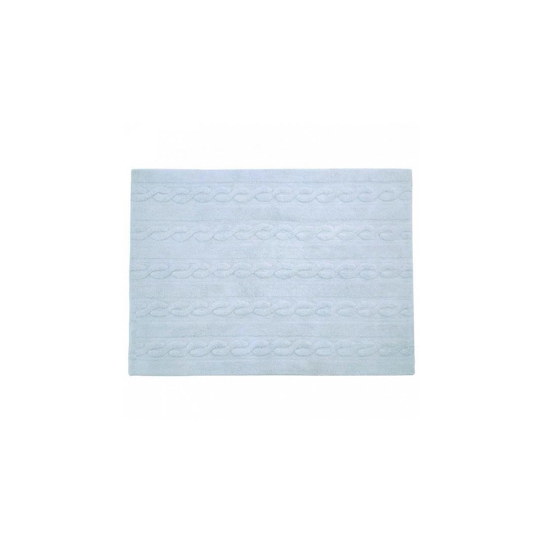 tapis lavable torsades bleu clair lorena canals ma. Black Bedroom Furniture Sets. Home Design Ideas