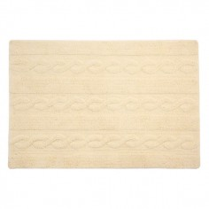 Tapis lavable Torsades beige Vanille - Lorena