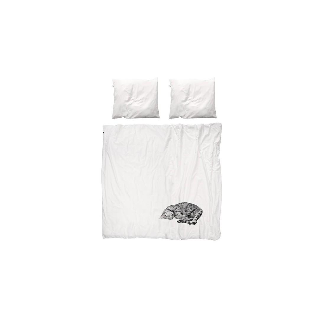 housse de couette enfant chat snurk ma chambramoi. Black Bedroom Furniture Sets. Home Design Ideas