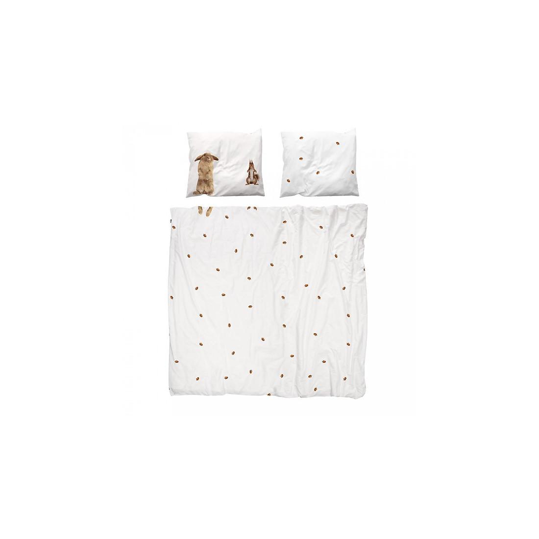 housse de couette enfant ecureuil et lapin snurk ma chambramoi. Black Bedroom Furniture Sets. Home Design Ideas