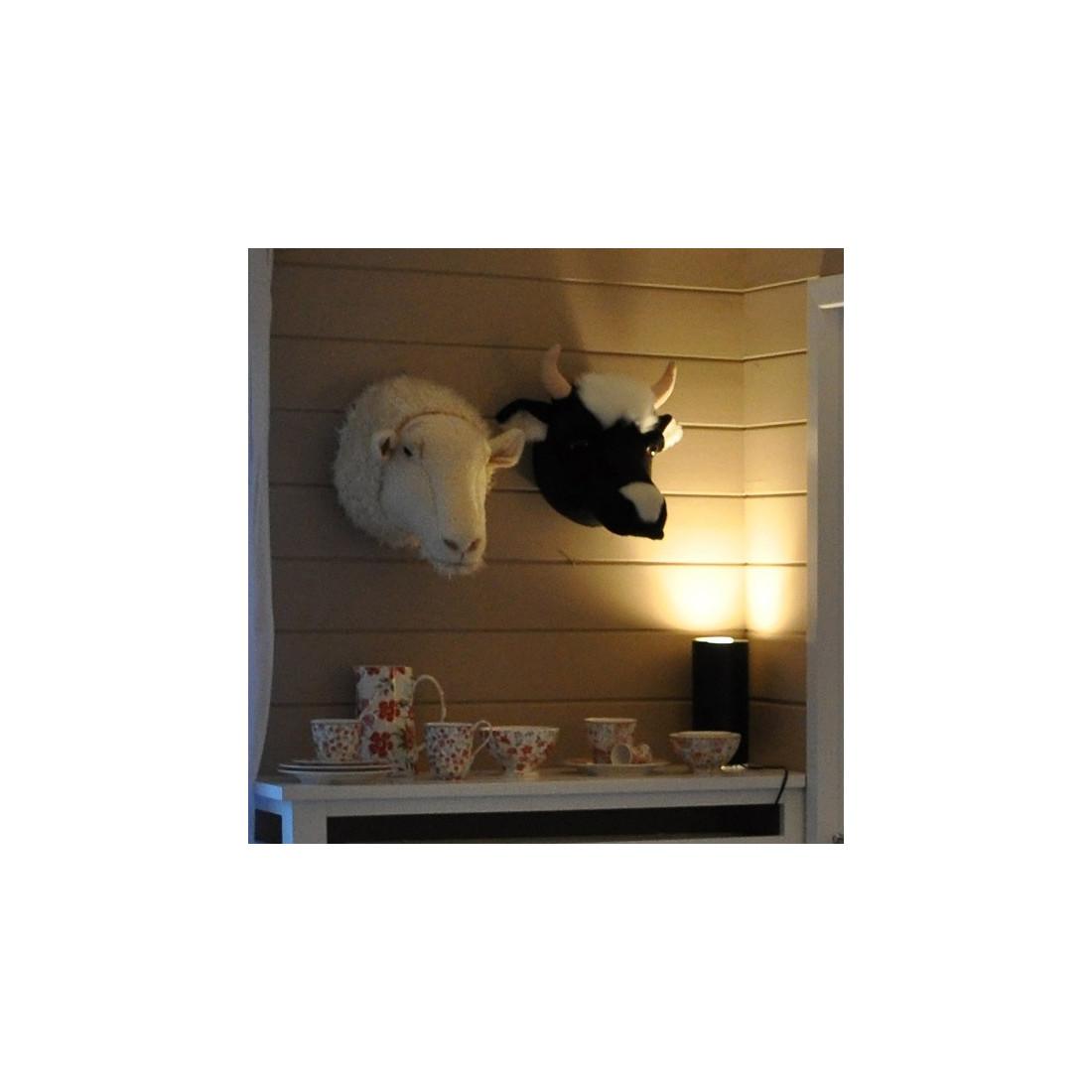 d co murale enfant peluche t te vache bibib ma chambramoi. Black Bedroom Furniture Sets. Home Design Ideas