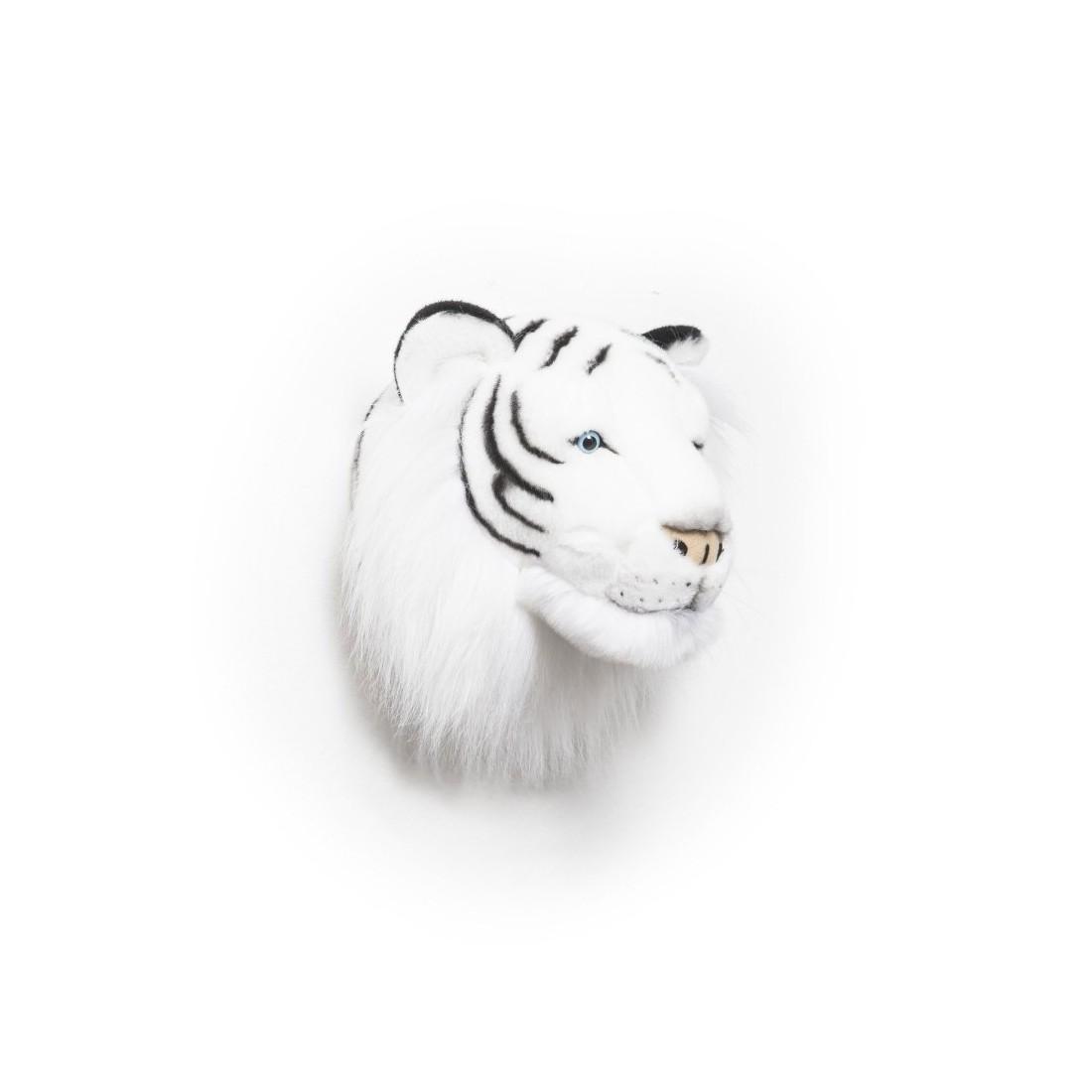 d co murale enfant peluche t te tigre blanc bibib ma chambramoi. Black Bedroom Furniture Sets. Home Design Ideas