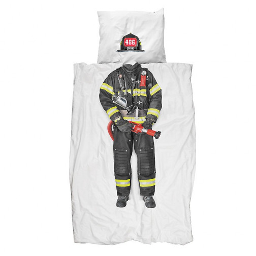housse de couette enfant pompier ma chambramoi. Black Bedroom Furniture Sets. Home Design Ideas