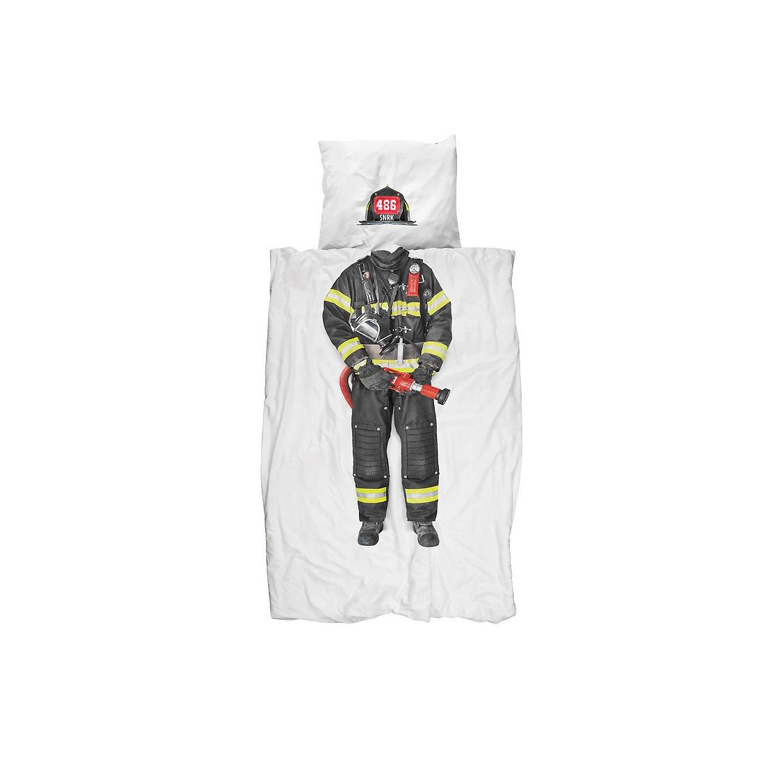 Housse de couette enfant pompier ma chambramoi - Housse de couette pompier ...