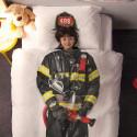 Housse de couette enfant Pompier effet 3D