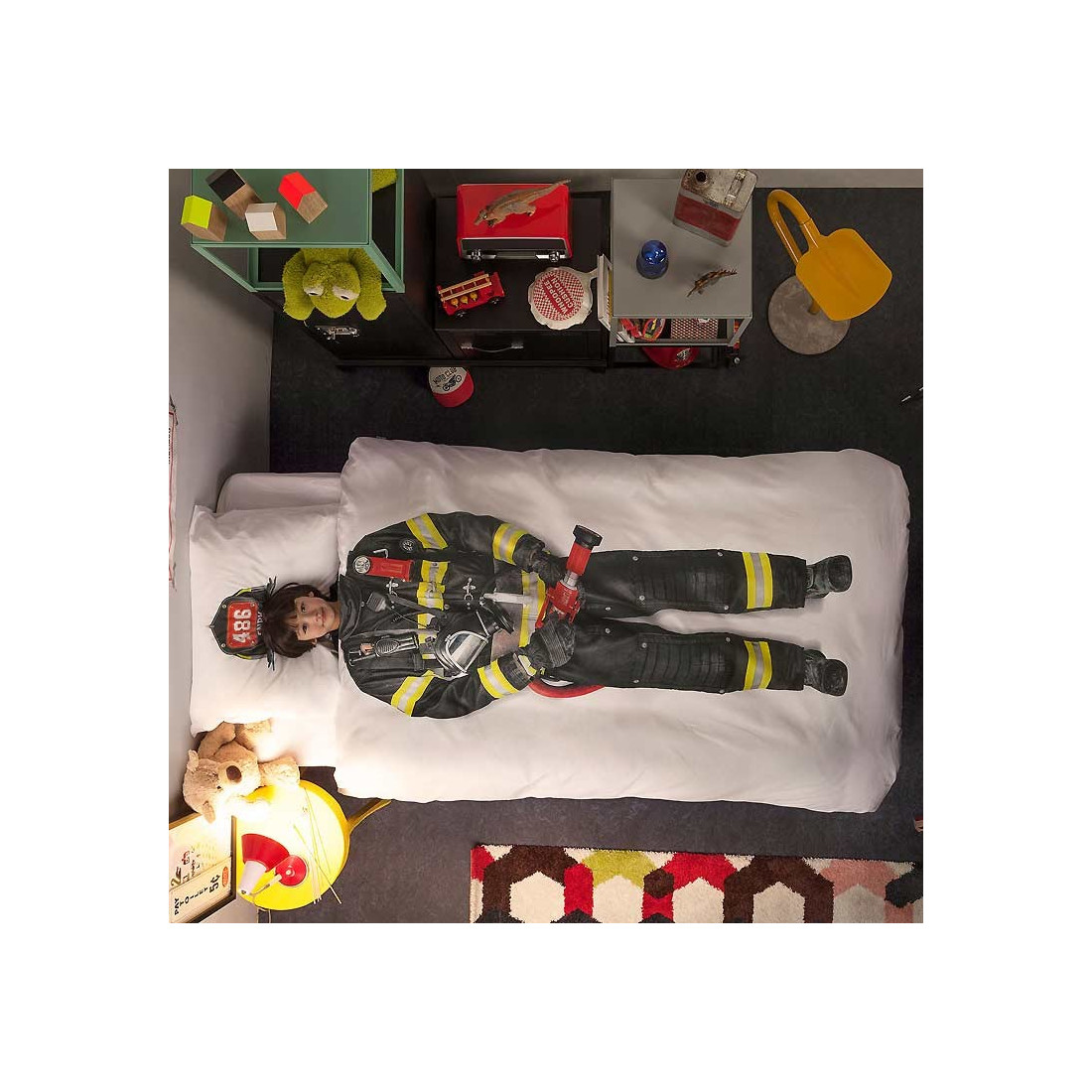 Housse de couette enfant pompier ma chambramoi for Housse de couette pompier
